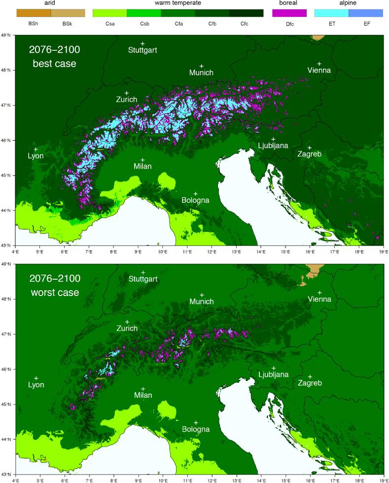 Koeppen Geiger Climate Zones