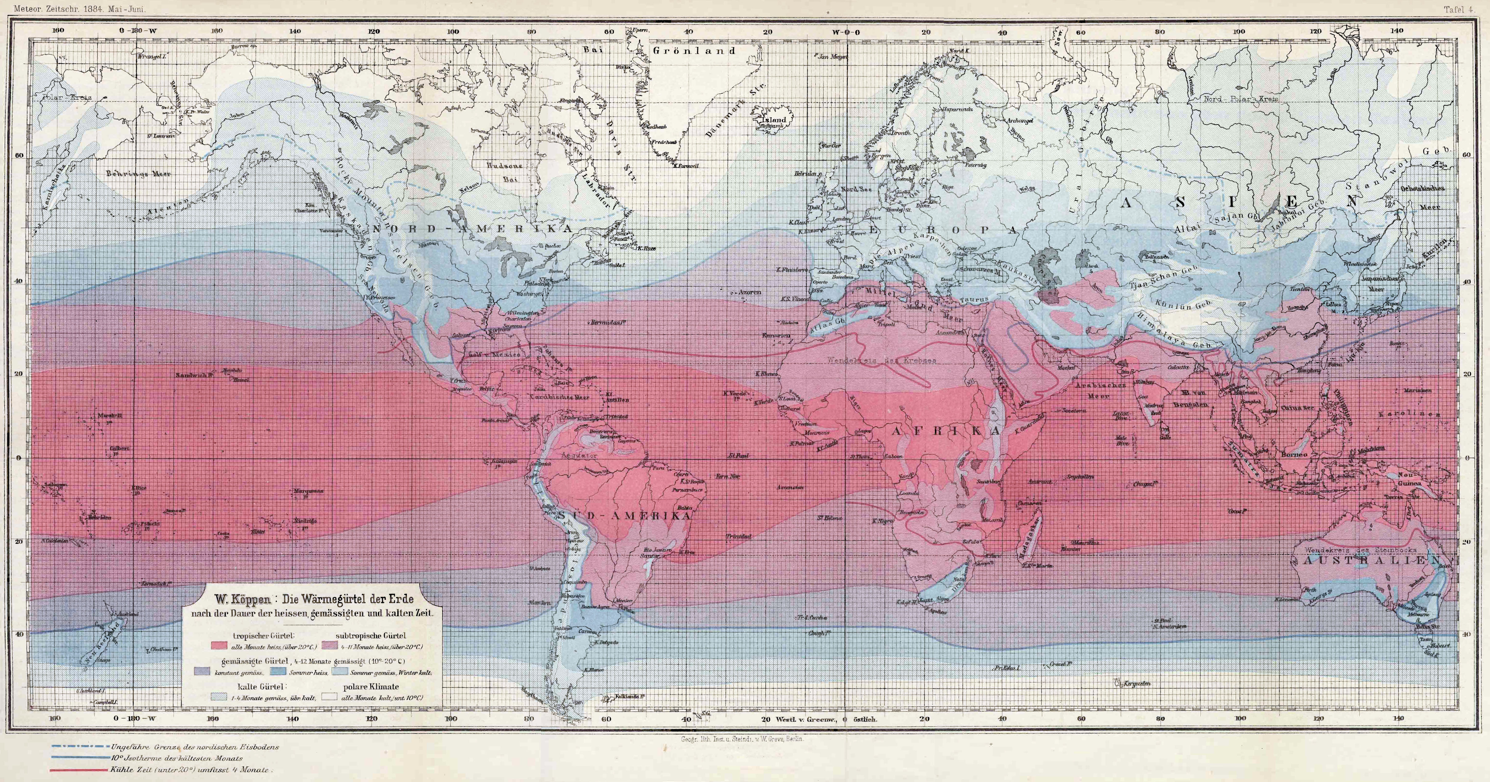 Thermal Map Of The World.World Maps Of Koppen Geiger Climate Classification